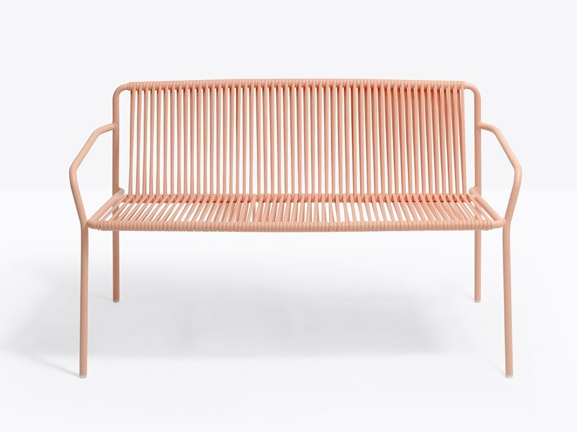2 seater steel and PVC sofa TRIBECA 3666 by PEDRALI