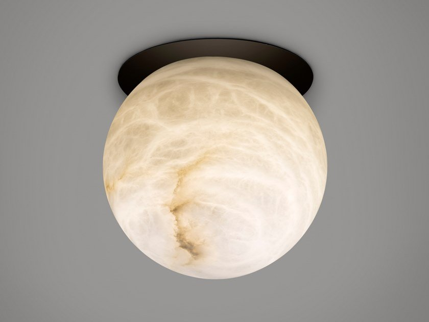 Lampada da soffitto in alabastro e ferro TRIBECA | Lampada da soffitto by Alma light