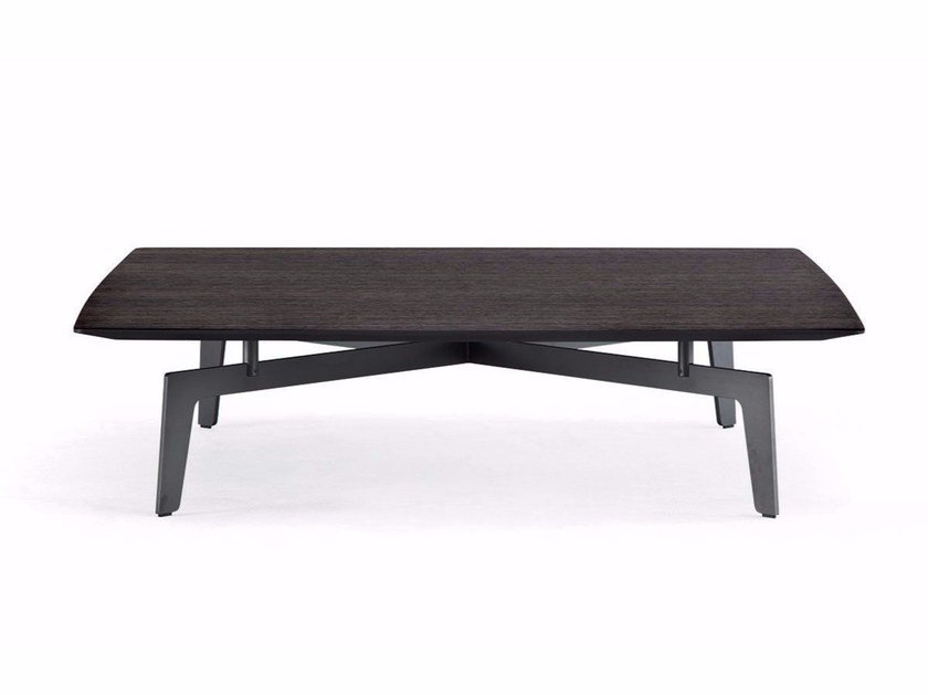 Low rectangular MDF coffee table TRIBECA | Rectangular coffee table by poliform