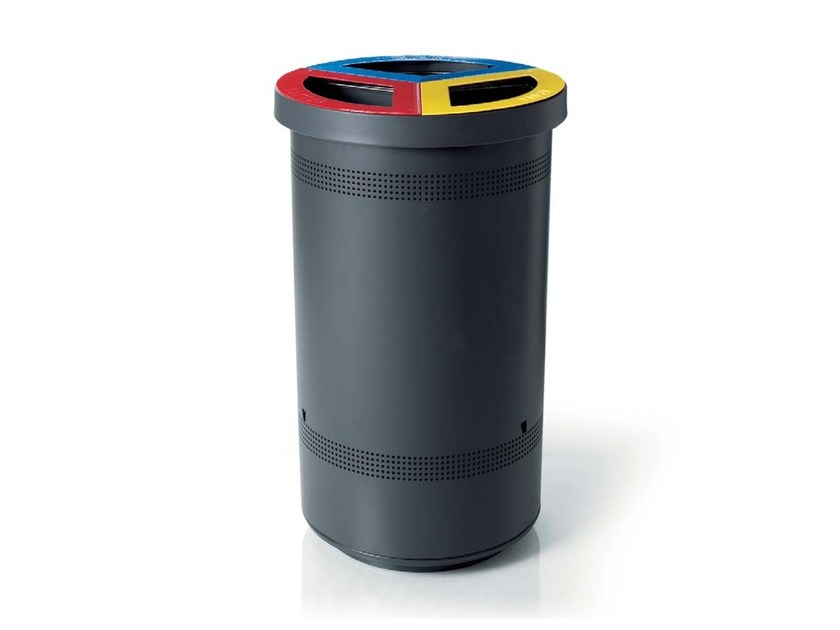 Litter bin for waste sorting TRIBIN by LAB23