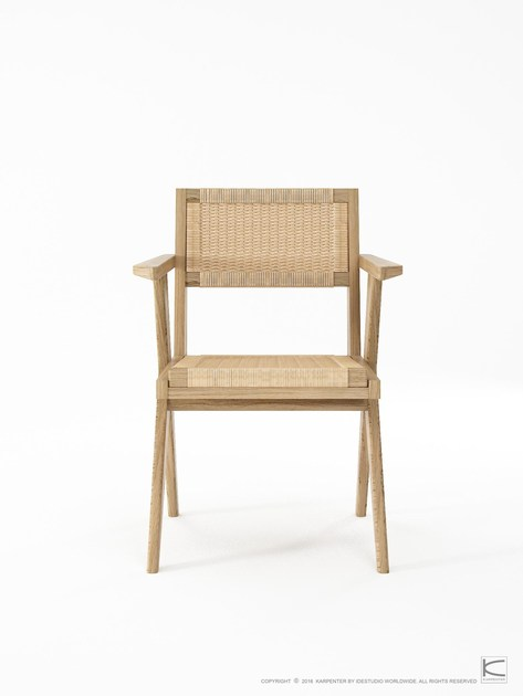 Armchair with Danish Paper Cord TRIBUTE | Oak chair by KARPENTER