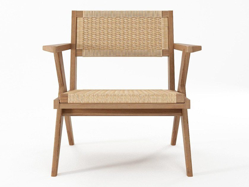 Wooden Easy Chair with Woven Danish Paper Cord TRIBUTE | Easy chair by KARPENTER