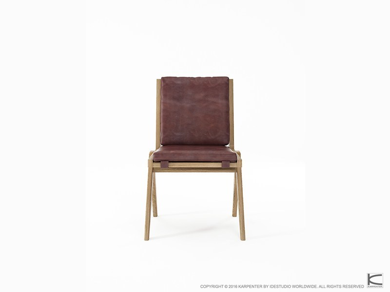 Upholstered leather chair TRIBUTE TB07-O by KARPENTER