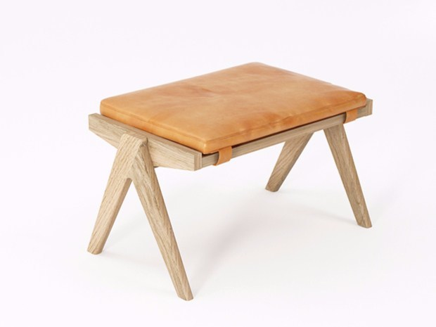 Leather stool TRIBUTE TB15-O by KARPENTER