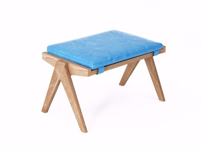 Leather stool TRIBUTE TB15-T by KARPENTER