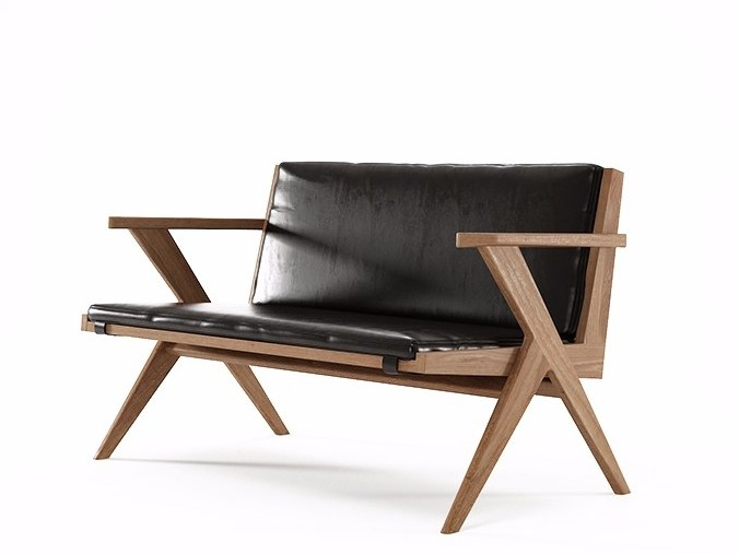2 seater leather sofa TRIBUTE TB17-T by KARPENTER