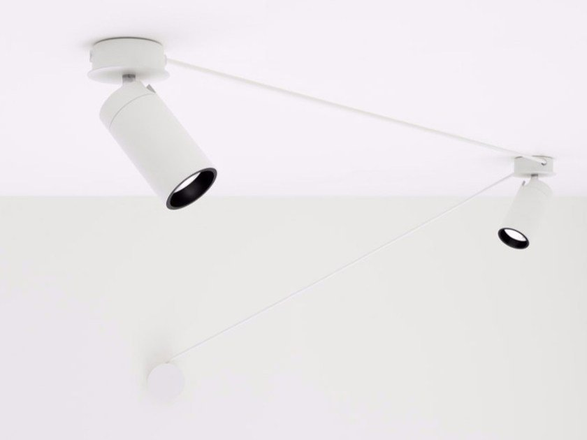 Faretto a LED orientabile a soffitto TRICK TRACK by DAVIDE GROPPI