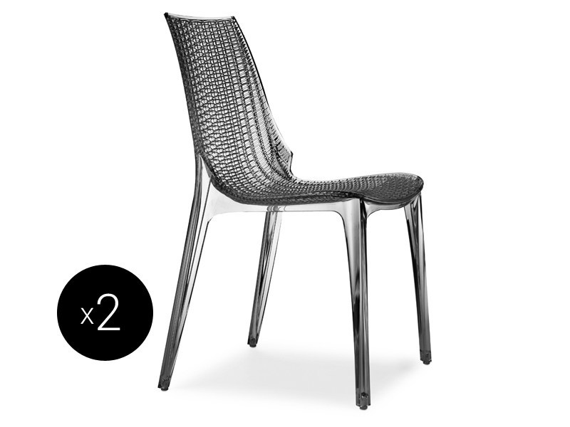 Stackable polycarbonate chair TRICOT   Chair by SCAB DESIGN