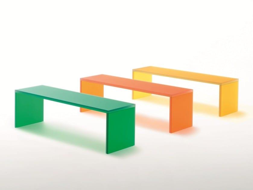 Crystal bench TRIENNALE by Glas Italia