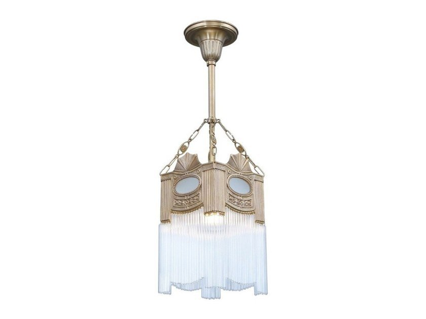 Handmade brass pendant lamp TRIEST II | Pendant lamp by Patinas Lighting