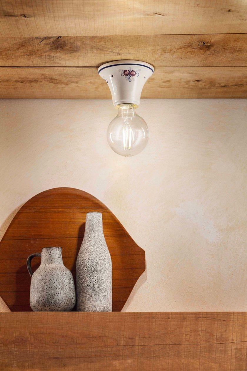Ferroluce Ceramica Rotondo Da Lampada SoffittoIn TriesteFaretto H92IEDW