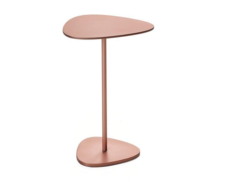 Steel side table TRIGON by BassamFellows