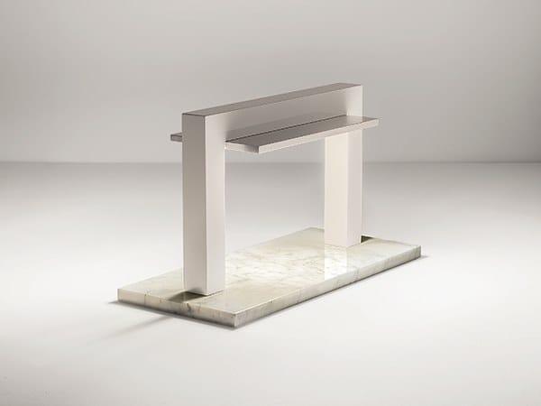 Lampada da tavolo a LED in marmo e legno TRILITE by Firmamento Milano