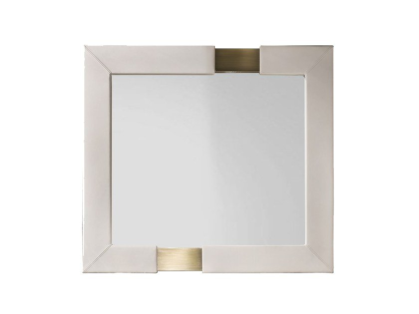 Square wall-mounted framed mirror TRILOGY Q by Capital Collection
