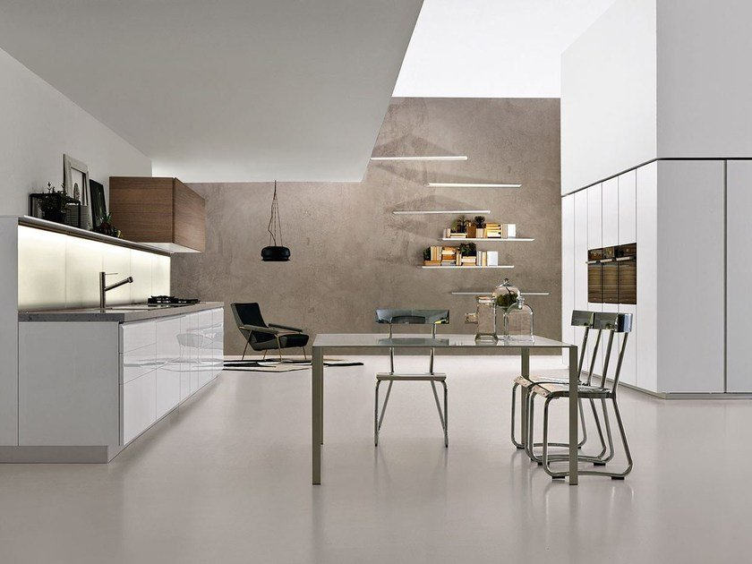 Fitted kitchen with integrated handles TRIM by DADA
