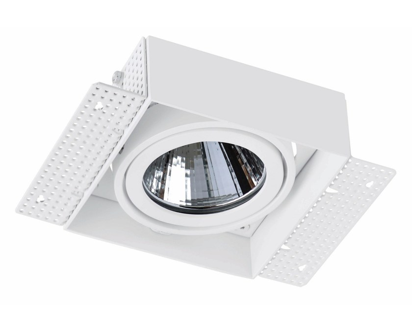 LED square recessed aluminium spotlight TRIMLESS 1x33W by LED BCN
