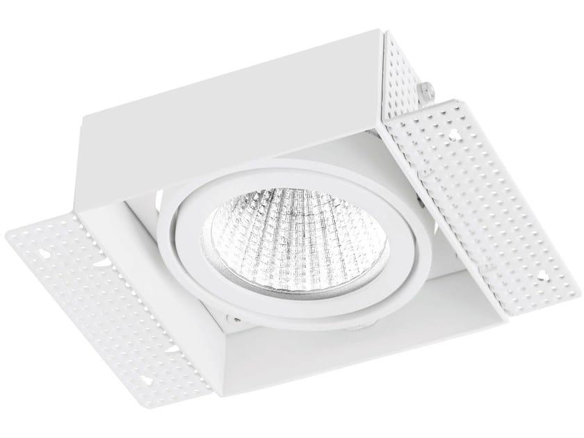 LED square recessed aluminium spotlight TRIMLESS 1x9W by LED BCN