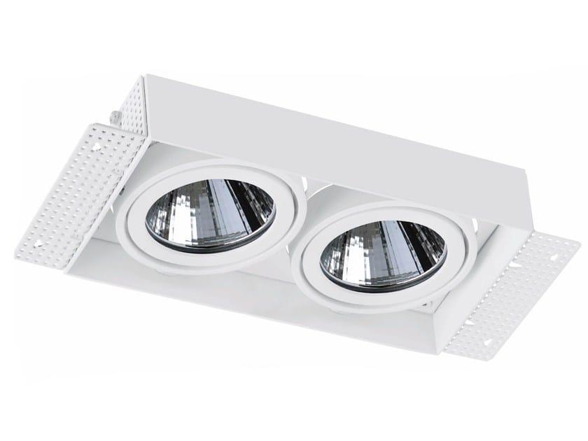 LED rectangular recessed aluminium spotlight TRIMLESS 2x33W by LED BCN