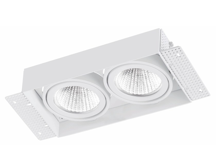 LED rectangular recessed aluminium spotlight TRIMLESS 2x9W by LED BCN