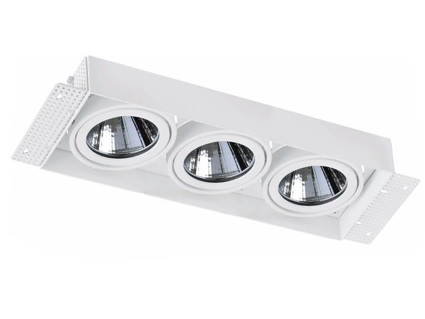 LED rectangular recessed aluminium spotlight TRIMLESS 3x33W by LED BCN