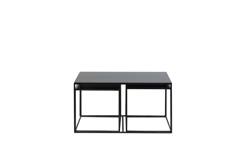 Rectangular Mirrored Gl Coffee Table Trinity Set By