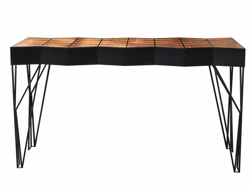Lacquered wooden console table with drawers TRINITY | Console table by Malabar