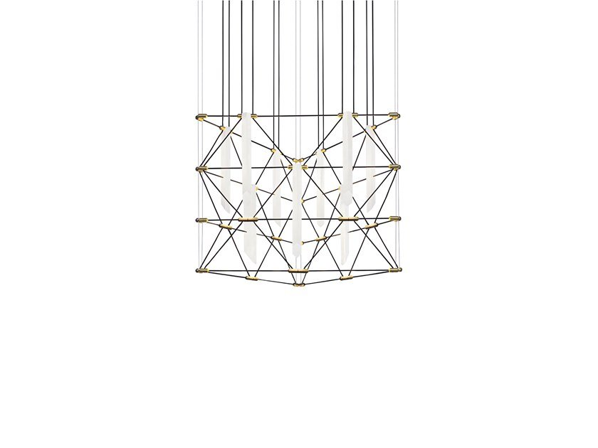 LED steel chandelier TRIO FLAT MOZAIK by designheure