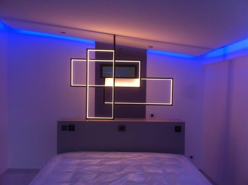 Applique à led en acier pour éclairage indirect trio lt by cinier