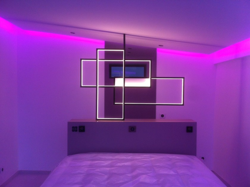 Led indirect light steel wall lamp trio lt by cinier design