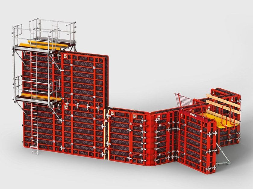 Formwork and formwork system for concrete TRIO by PERI