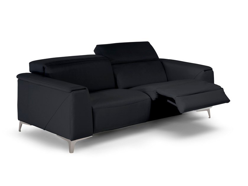 Leather sofa with electric motion TRIONFO by Natuzzi