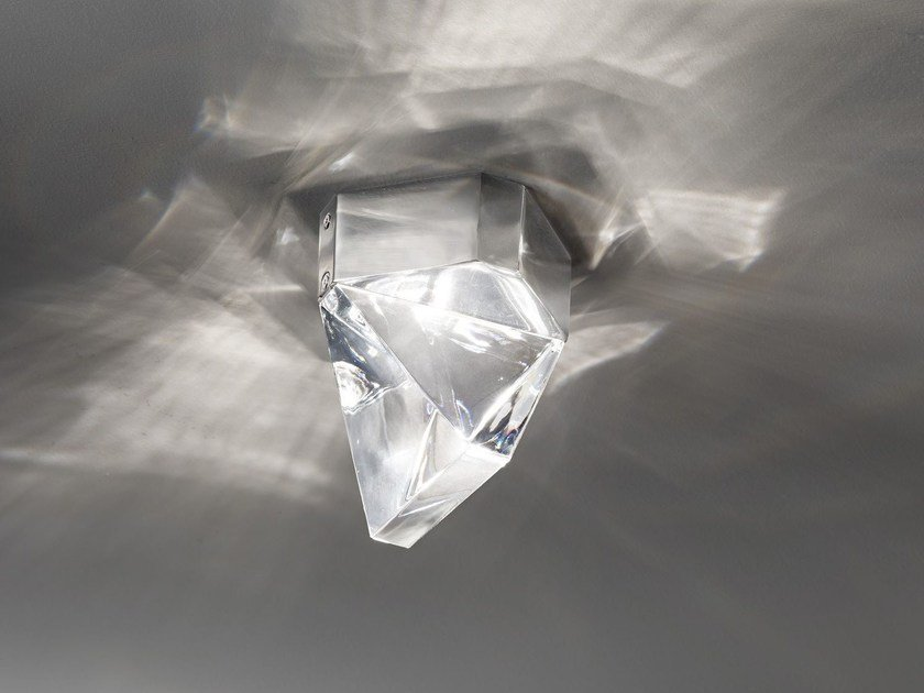 Lampada da soffitto a LED in cristallo TRIPLA | Lampada da soffitto in cristallo by Fabbian