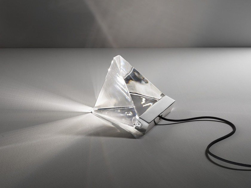 LED crystal table lamp TRIPLA | Table lamp by Fabbian