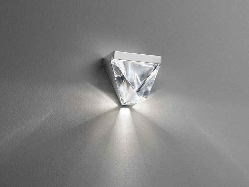 LED crystal wall lamp TRIPLA | Wall lamp by Fabbian