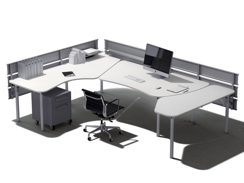Individual office workstation TRIPLANO by De Rosso