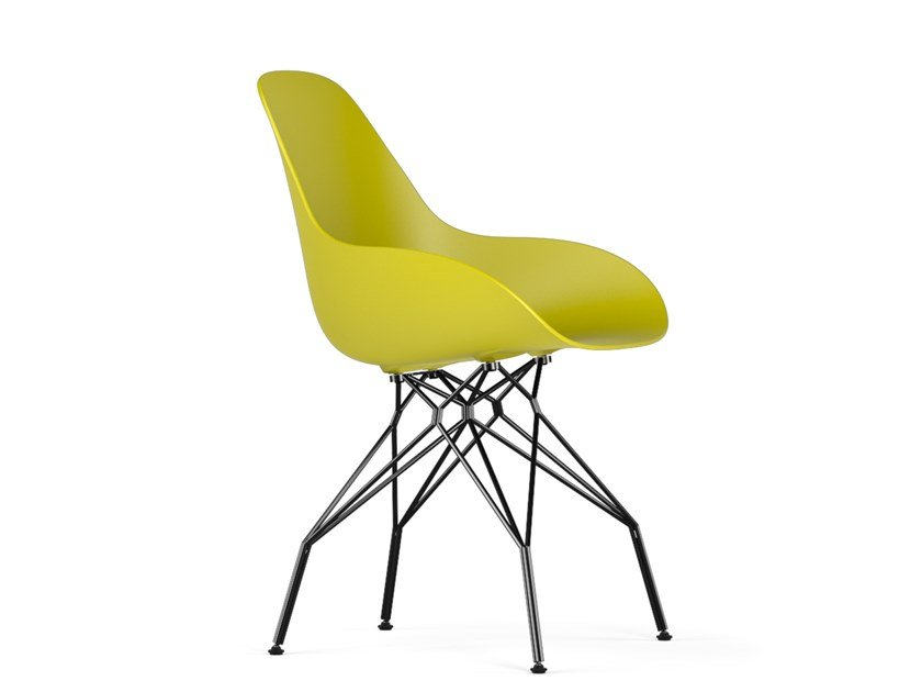 Polypropylene chair TRIPLE DIMPLE CLOSED by KUBIKOFF