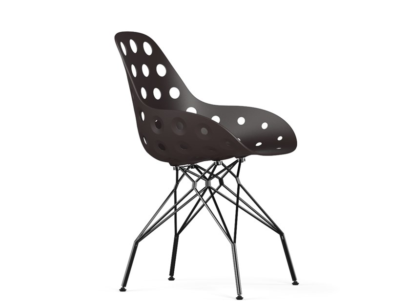 Polypropylene chair TRIPLE DIMPLE by KUBIKOFF