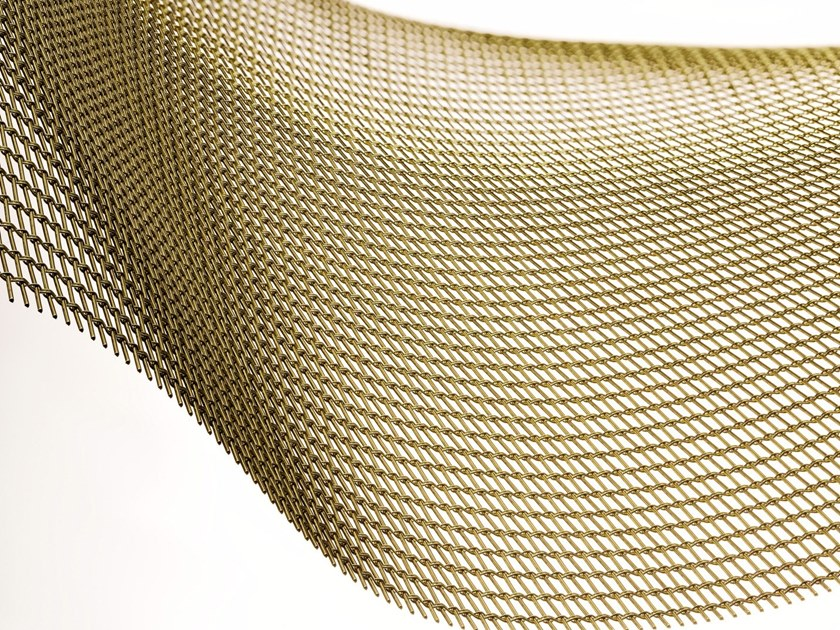 Brass Metal fabric and mesh TRIPLE GOLD by MeshArt™