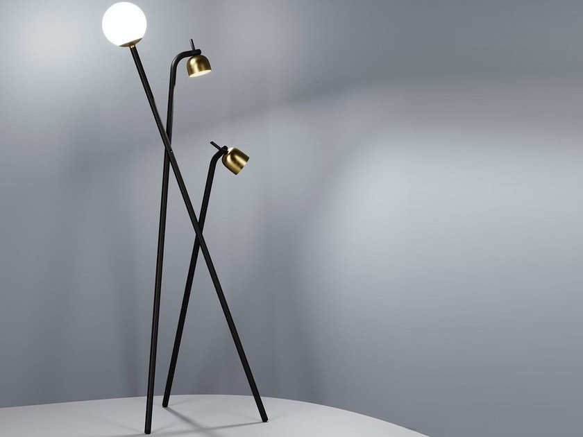 LED adjustable floor lamp TRIPOD by FontanaArte