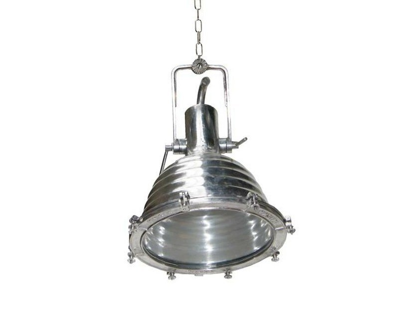 Handmade swivel pendant lamp TRIPOLI LARGE ALUMINIUM CARGO LIGHT by Mullan Lighting