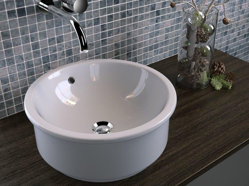 Countertop round ceramic washbasin TRIS | Countertop washbasin by Olympia Ceramica
