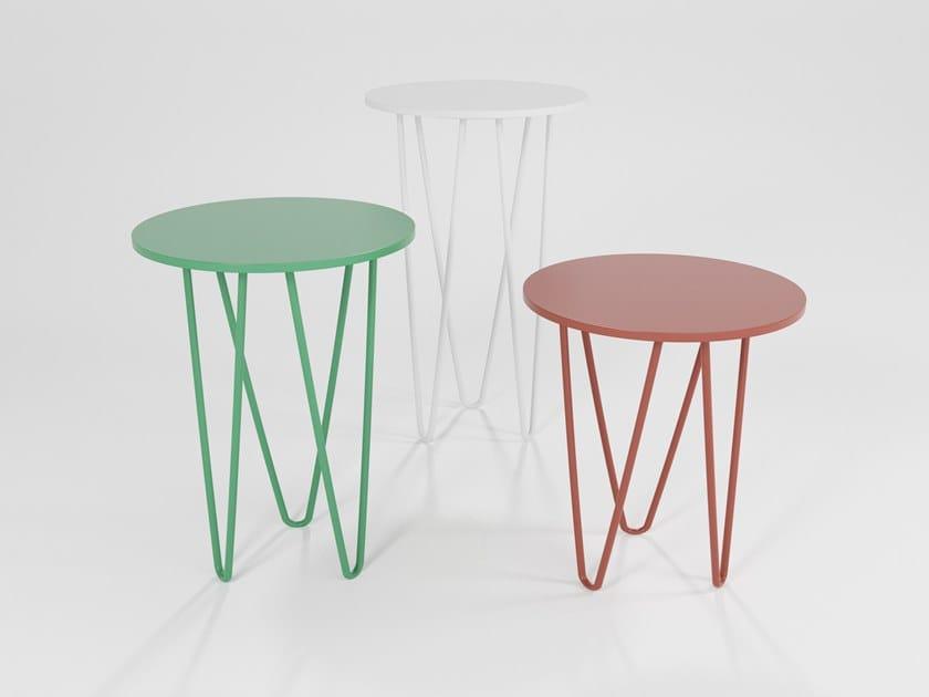 Tavolino laccato in MDF TRITTICO | Tavolino laccato by Barel