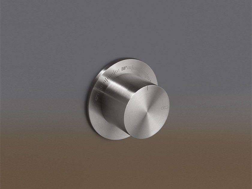 Stainless steel thermostatic shower mixer TRM 06 by Ceadesign