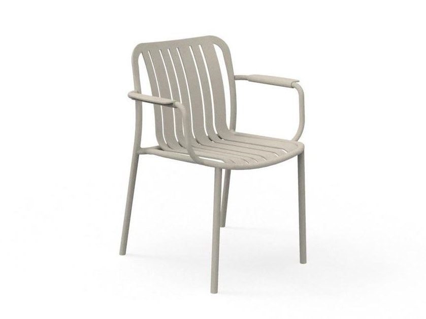 Stackable garden chair with armrests TROCADERO | Chair with armrests by Talenti