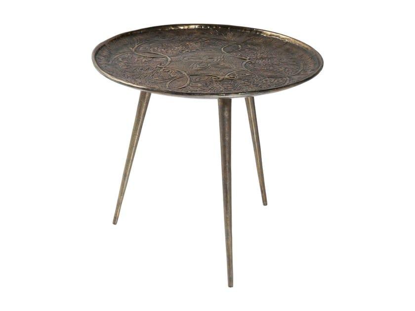 Tavolino da caffè ovale in alluminio con vassoio TROJA   Tavolino con vassoio by KARE-DESIGN
