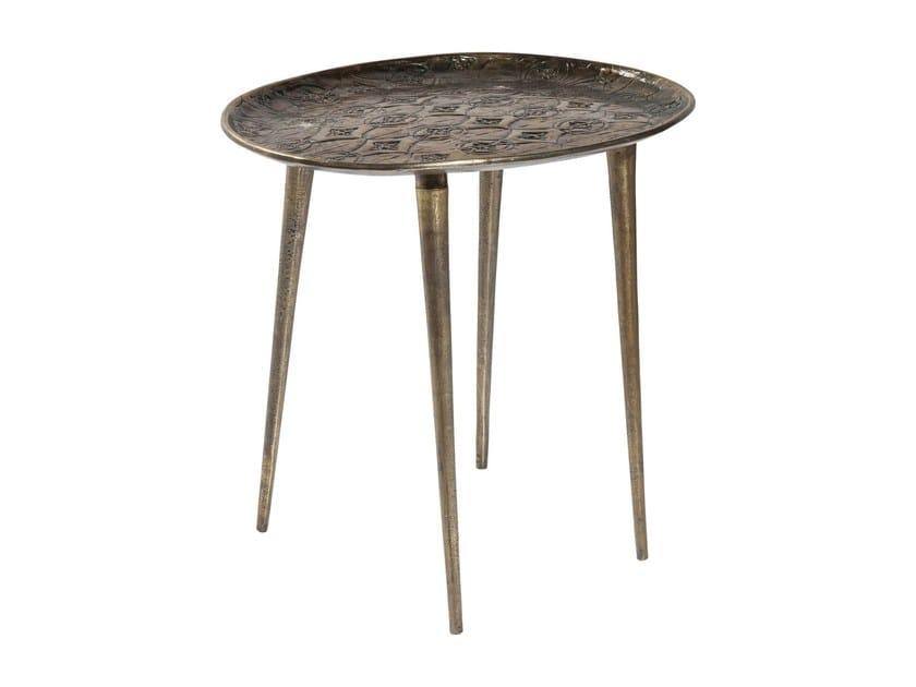 Round aluminium side table TROJA | Round coffee table by KARE-DESIGN