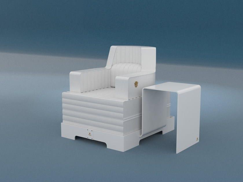 Imitation leather garden armchair TRONA | Garden armchair by Trona