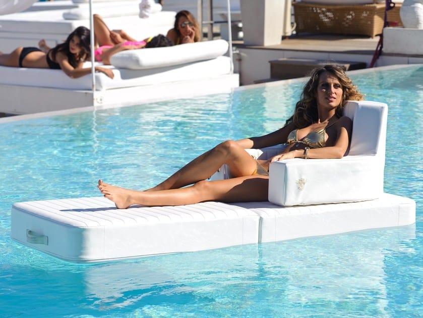 Imitation leather floating pool lounge TRONA | Floating chair by Trona