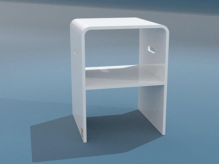Methacrylate garden side table TRONA | Garden side table by Trona