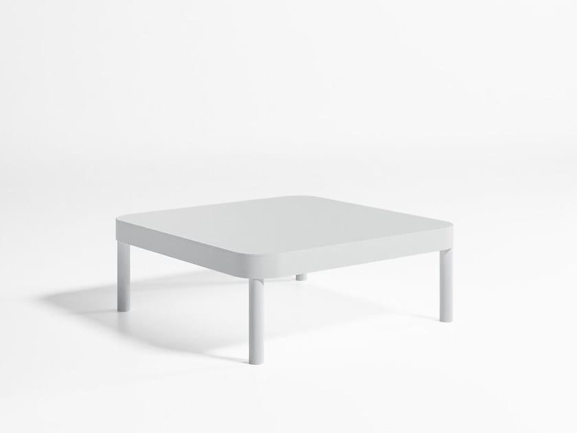 Square thermo lacquered aluminium garden side table TROPEZ | Square coffee table by GANDIA BLASCO